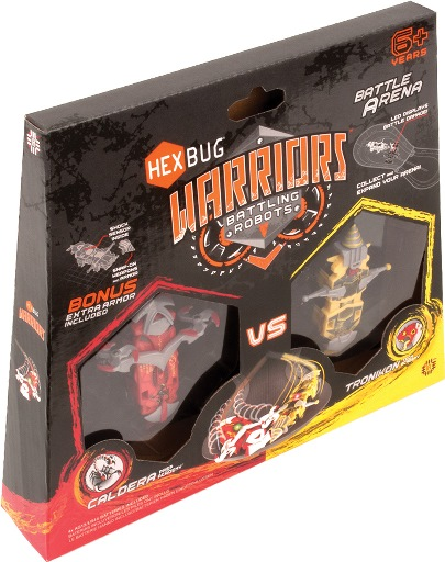 HEXBUG Warriors 501610 - Battle Arena - CALDERA Prep vs TRONIKON Tech rot/gelb