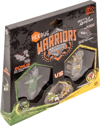 HEXBUG Warriors 501610 - Battle Arena - VIRIDIA Prep vs TRONIKON Tech grün/gelb