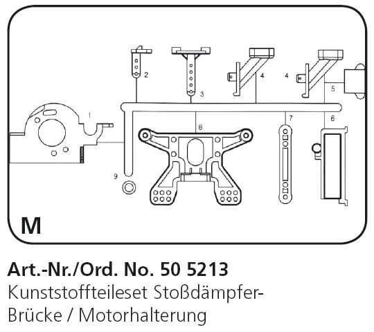 505213 Reparatur-Set M für RC Car Crossbone